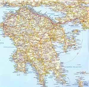 Karte Griechenland Peloponnes.Griechenland Peloponnes Ferienhauser Und Ferienwohnungen